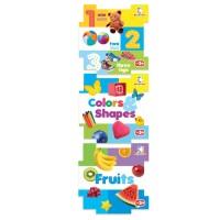 Buku 3 In 1 Puzzle Books 123 Fruits Colors & Shapes by Team M