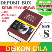 Unik Murah! Deposit Box Kotak penyimpan Uang atau Perhiasan model Buku