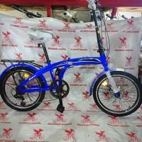 sepeda anak 20 lipat exotic 2026 mk rem cakram gigi 7 speed boncengan