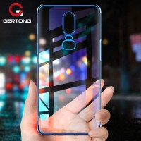 99GerTong Clear Plating TPU Case Oneplus 6 5t 5 Case Ultra Slim Soft S
