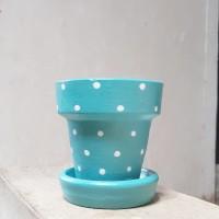 Pot Terracotta-Pot Tanah Liat-Diameter 8 cm-Pattern 6