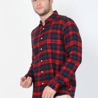 Lucas Flannel LS in Red