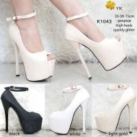 4ae54efc939 SH ykshoes 1043 high heels 15cm 15 cm peep toe shoes import sepatu bar