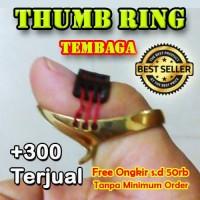 Thumb Ring Horsebow Tembaga   Thumbring Horse Bow   Panahan Tradision