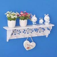 Harga decorative rack rak shabby chic dengan 5buah hook gantungan | antitipu.com