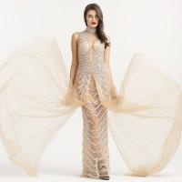 Dress Pesta long dress A Line Mila Crystal