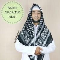 Sorban Almas Arafat Hitam / Surban Arab / Oleh Oleh Haji dan Umroh