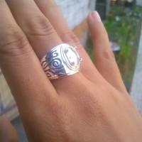 emban cincin perak handmade motif ukir batik 02
