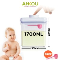 Ankou - Toples (Tempat makanan / Tempat susu bubuk) Air Tight 1700ml