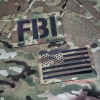 PATCH DUMMY IR CUTTING FBI &US FLAG Multicam
