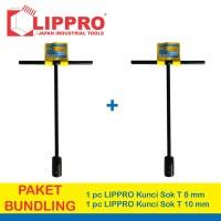 [FS] PAKET LIPPRO KUNCI SOK T SET 2 PCS 8 - 10 MM