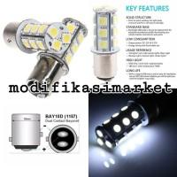Best LAMPU REM MOTOR BAYONET 1157 2 KAKI STROBO KEDAP KEDIP HIGH