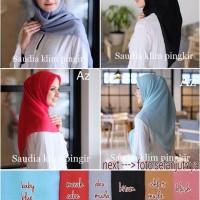 Jilbab Segi Empat Katun Saudia Jahit Tepi