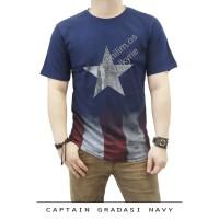 Jual Kaos Premium Spandex Superhero Captain America SH127 Murah