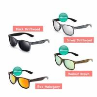 Anti UV Sunglasses - Kacamata Pria   Wanita - Motif Kayu - HM420 1b9f4219bd