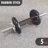 [5KG] Dumbell set besi 5 KG - Paket Stick + Beban Barbel Dumbel