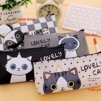 Tempat Pensil Lucu Cute Cat/ tempat atk/ hand bag sekolah/ tas atk