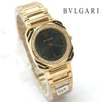 Jam Tangan Wanita / Bvlgari HC-11289 + Box Ekslusive + Batre Cadangan - ROSE HITAM
