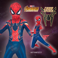 Kostum Iron Spider Spiderman anak Avengers baju costume laki cosplay