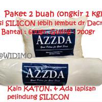 PROMO Isi 2bh - Bantal & Guling Silicon 100% AZZDA / Silikon Dacron