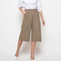 Kulot Pendek Katun Strit, Culottes Pants Cotton Strech