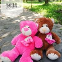 BONEKA TEDDY BEAR SYAL POLAR