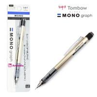Tombow Mono Graph Shaker Mechanical Pencils 0.5mm - Gold (DPA-132H)