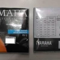 1 set senar gitar yamaha folk guitar strings light gauge 80/20 bronze
