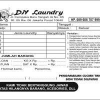 Jual Nota Laundry Murah Harga Terbaru 2019 Tokopedia