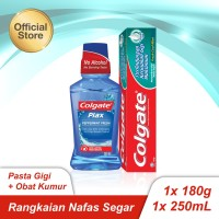 Colgate MW Plax 250ml Peppermint + Colgate Fresh Cool Mint 180gr