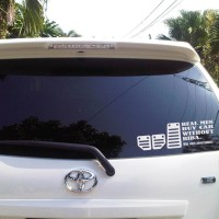 Sticker Decal Real Men Buy Car Without Riba Who Cares About Pedals