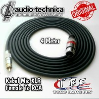 Kabel Mic XLR Female to RCA Canon Canare 3pin 4 meter