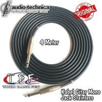 Kabel Gitar 4 Meter Jack Akai Mono to Akai Mono Stainless