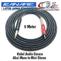 Kabel Audio Canare 5 Meter Akai Mono To Mini Stereo 3.5mm