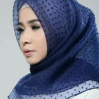 Dijamin Bagus! Murah !! Jilbab Kerudung Segi Empat Linen Organza Dot