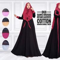 Jual Banyak Warna Gamis Mutiara Simple Polos Modern Dress Baju