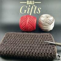 Dompet Aksesoris Handmade Special Crochet Single Coklat - Bali Gifts