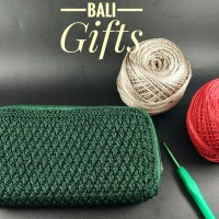 Dompet double resleting (Souvenir & Hadiah)Handmade Crochet-Bali Gifts