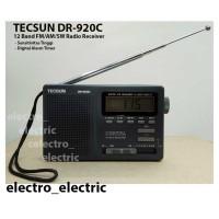 Radio TECSUN DR-920C FM MW SW 12 Band dengan Jam Alarm Digital