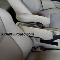 Armrest Xpander Motif Kulit hitam dan beige Arm Rest set 2 biji