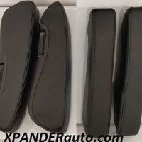 MIXI Armrest Xpander Motif Kulit hitam dan beige Arm Rest set 2 biji