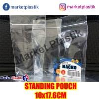 Plastik Ziplock Standing Pouch Ukuran 10x17cm/Klip Kemasan Berdiri