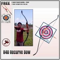 Busur Panah Kayu - Wooden Recurve Bow 40