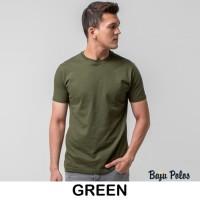 Kaos Polos Pria Hijau - Green Premium