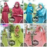 TERLARIS Gamis Polos Salsa Syari Original Solo Hijab Set Khimar