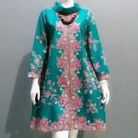 Dress Kantor Atasan Tunik Batik Blouse Dress Batik Wanita