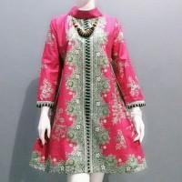 Dress Kantor Atasan Tunik Batik Blouse Batik Wanita