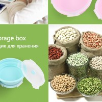 LunchBox Bowl Round Folding Bento Eco-Friendly Food Storage Container