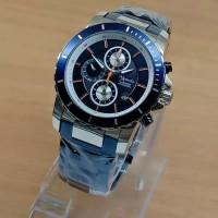 Jam Tangan Pria Alexandre Christie Ac 6141 Original Blue Silver