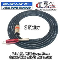 kabel Mic DSLR Canare 2 Meter Male To Mini 3.5mm